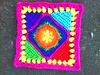 Crochet Square C-3 (crochetbug13) Tags: crochetbug crocheted crocheting grannysquare crochetsquare multicolor grannysquaresampler crochetafghan crochetblanket crochet granny square