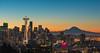 Seattle Sunrise 1 (Andre C's) Tags: seattle spaceneedle sunrise washington raininer mt rainier volcano