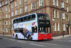 9527 SN12AAZ (Abellio) Camden Town 14.8.16 (Rays Bus Photographs) Tags: abelliolondon 9527 sn12aaz advertbus europapark