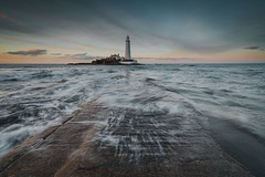 St Marys (Danny Birrell) Tags: canon tamron1735 lighthouse light sea seascape landscape sun sunset water wet waves movement longexposure sky clouds colour causeway stmaryslighthouse whitleybay coast coastallandscape beach tide
