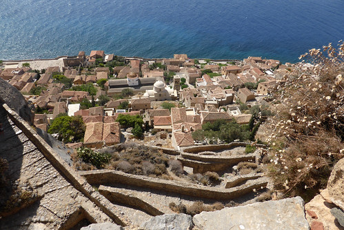 Monemvasia - Lower Town from Upper Town P1080815