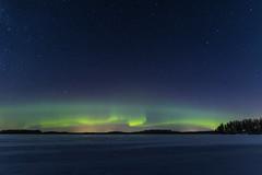 Revontulet (petzki889) Tags: maisema landscape stars auroraborealis revontulet auroras sigma20 canon 6d suomi finland lake frozen