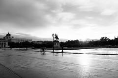 After the rain... (PIXXELGAMES - Robert Krenker) Tags: newspaper news cafe kaffee vienna wien snapshot unknown candid portrait portret schwarzweiss blackandwhite blacknwhite bnw fujifilm fujinon filmsimulation lifestyle street streetstyle urban streetphotographer streetphotography biancoenero afterrain aftertherain shining contrast by bicycle silhouette black white sun againstthesun