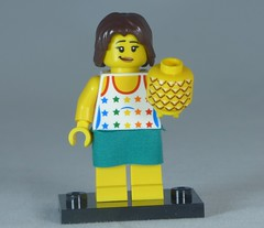 Brick Yourself Custom Lego Figure Cute Girl with Pineapple