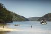 3/365 (3:2) Waratah Bay (kristoffw) Tags: sydney cowan crek boat fisher boy water sky australia sony a72 a7ii nature beauty action activity life natural net pole