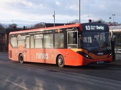 trent barton 151 Alfreton (Guy Arab UF) Tags: trent barton 151 yx66wlw alexander dennis e20d enviro 200 mmc alfreton bus station derbyshire wellglade group buses wellgladegroup
