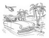 Lebu Lagoon (rod1691) Tags: ford alien art palms pencil helicopter hover bw