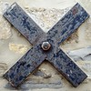 IMG_20161231_080355_332 (Jon_Callow_Images) Tags: x xmarksthespot wall stone support iron ironwork cross unstable crumble old bolt