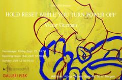 HOLD RESET WHILE YOU TURN POWER OFF // VICTOR GUZMAN (victorguzman1) Tags: victor guzman artist art contemporary exhibition bergen galleri fisk victorguzman installasjon