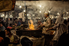 Saturday Night Fever (Pawel A K) Tags: theworldthroughourlenses 2011 morocco jemaa marrakesh elfnaa food saturday evening seller fire market stalls cooking cook