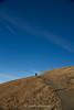Sky Walker (Paolo Polesana) Tags: mountain dolomiti skytheme sky man blue red path burnt