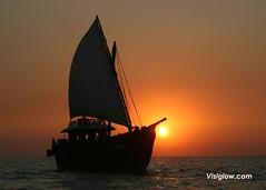 Boat at Sunset, Bombay (ericktseng) Tags: travel wedding india beach monkey delhi indian taj mahal agra kerala palace adventure camel mumbai pushkar chennai jaipur rajasthan indianwedding