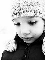 """Little girl, (maryszka) Tags: family winter portrait bw cold girl face child littlegirl nurseryrhyme julka thelittlegirlandthequeen"