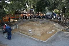 Kudaraji West tower site () (norisons2005) Tags: west tower archaeology temple site ruin  kansai   kudara kudaraderaato