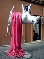 Bratislava art cow (kimbar/Thanks for 4.5 million views!) Tags: sculpture cow upsidedown slovakia bratislava