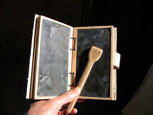 Wax tablet and stylus from flickr user: marchofstmartin