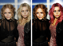 Before and After - Olsen Twins (alizarine) Tags: portrait photoshop portraits design graphicdesign graphics graphic beforeandafter
