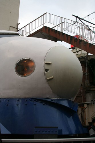 新幹線0系の前頭部分