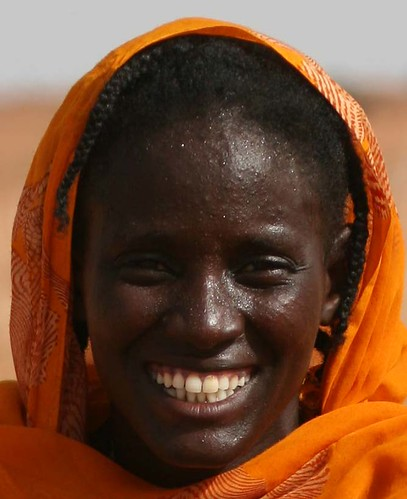 Smiling African