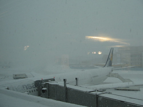 Snowed in @ Frankfurt Airport