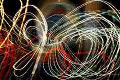 Light Graffiti Series # 52 (AdamSherbellPhotography) Tags: light red white colors yellow graffiti mixed strokes funky funk hyper funked