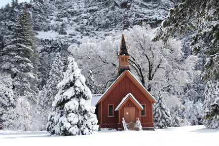 Yosemite Chapel Winter 2006