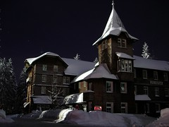 Black Forest - lonesome hotel (Mace2000) Tags: longexposure winter house snow nature topv111 germany landscape deutschland hotel scary topv333 500v20f nightshot natur snowboard landschaft schwarzwald blackforest 30sec int flutlicht langzeitbelichtung dscw12 kpi gruselig 1000v tpv555 longaftermidnightpleasecomment hundseck mace2000 lowlightgallery spectnight nordschwarzwald dsc06491 schwarzwaldhochstrase