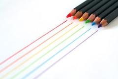 Pencils (Matt Gypps) Tags: colour macro closeup pencil pencils rainbow interestingness462 i500 colouringpencils canon60mmf28macrousm