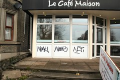 NG at Le Cafe Maison, Thorpe Road. (Colonel Blink) Tags: graffiti norfolk norwich ng nr1 ihavenoidea graffitto thorpehamlet colonelblink