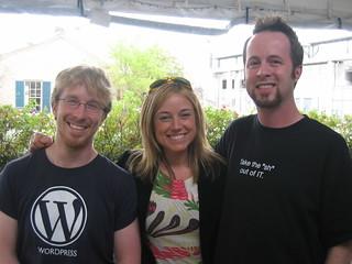 Chris Messina (Flock), me, and W-W-Whurley