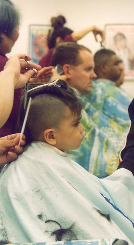 for your toddler boys first haircut on an employee cut her 8-year-old