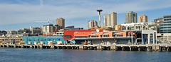 Seattle Waterfront (airnos) Tags: seattle skyline architecture washington waterfront panoramic spaceneedle argosytour pacificnorthwesttrip