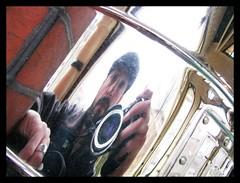 Me Reflection In A Mailbox (Fen Branklin) Tags: portrait selfportrait reflection brick philadelphia mailbox westphiladelphia chrome philly westphilly poweltonvillage baringstreet powelton fenbranklin jeremyburger