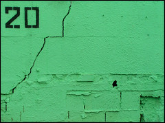 almost 22 (Tal Bright) Tags: urban abstract green wall 22 graphic minimal crack number pistachio 20 colorfield ramatgan twentytwo