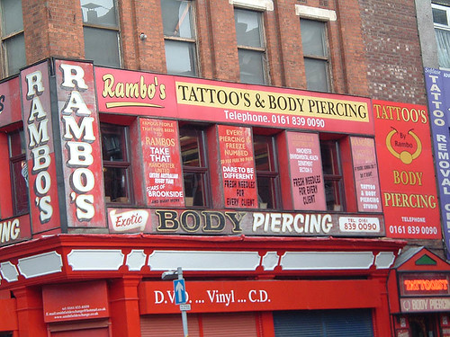 Rambo's tattoo parlour, Manchester