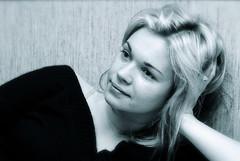 Ilze (rolands.lakis) Tags: blue people bw woman girl face female eyes lips latvia portret rolands lakis rolandslakis