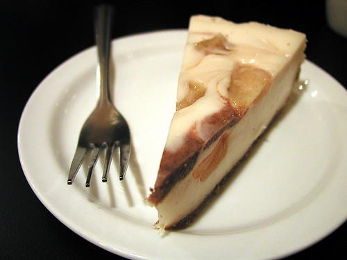 apple cinnamon swirl vegan cheesecake