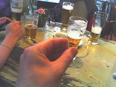 Just small beer (Lars Plougmann) Tags: beer weird pub funny illusion bizarre opticalillusion tinybeer