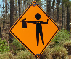 Caution: Magician Ahead! by The Rocketeer