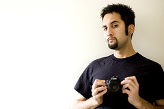 (navid j) Tags: portrait white selfportrait black reflection me self 50mm mirror nikond50 minimal negativespace f18 needtoshave pregym