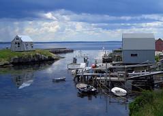 Blue Rocks, Nova Scotia (Steve from NJ) Tags: blue 15fav water 1025fav 510fav boats novascotia weeklysurvivor 555v5f 333v3f 444v4f 111v1f bluerocks 85points judgmentday52 specnature