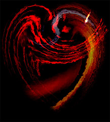 burningheart (Rockford Wolf) Tags: red art lines photoshop heart photos sunsets manipulation valentine montage layers