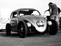 IMG_6317 (Andreas Reinhold) Tags: blackandwhite bw hot bug rat bravo barrel beetle hotrod rod sw fusca aircooled type1 typ1