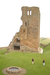 Scarborough Castle (tonypreece) Tags: girls sky cloud green castle grass day cloudy tourists well keep scarborough foreign visitors