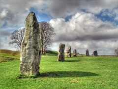 Avebury Stones HDR 4118 (Keith Marshall) Tags: uk trees shadow england sky cloud tree grass stone clouds canon circle shadows stones s2is wiltshire hdr avebury stonecircle canons2is 3xp photomatix theaveburytemplecomplex