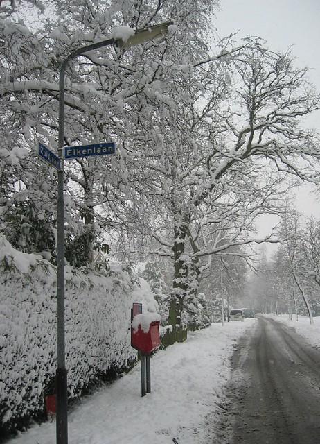 Snow in the Zuidlaan