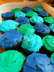 takes the cupcake (ms.Tea) Tags: macro colors cupcakes teal violet fuschia opening skyblue leafgreen lurid royalblue