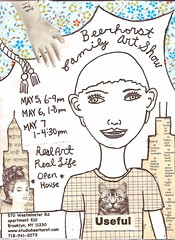 BEERHORST FAMILY SPRING ART SHOW ({studiobeerhorst}-bbmarie) Tags: show nyc family ny art collage brooklyn subway poster sketch flyer calendar drawing events sketchbook ephemera event invitation artshow dates invite flyers openhouse reallife cortelyou voxpop realart newkirk ditmas