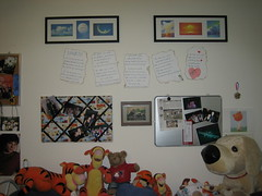 The wall by my bed (nao.nozawa) Tags: anniversary gift dominik awholenewworld