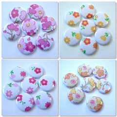 "1"" Cute flower buttons (Warm 'n Fuzzy) Tags: warmnfuzzy warmnfuzzynet"